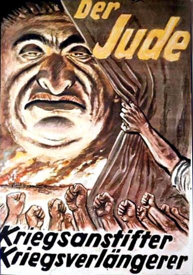 Der Jude Kriegsanstifter Kriegsverlaengerer | Vintage War Propaganda Posters 1891-1970