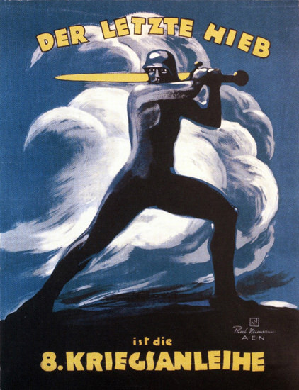 Der Letzte Hieb Ist Die 8 Kriegsanleihe   Vintage War Propaganda Posters 1891-1970