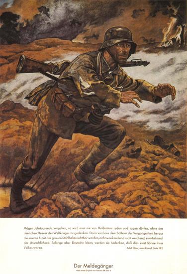 Der Meldegaenger Germany Messenger Soldier | Vintage War Propaganda Posters 1891-1970