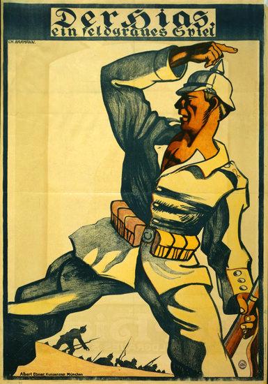 Der Sieg Ein Feldgraues Spiel | Vintage War Propaganda Posters 1891-1970