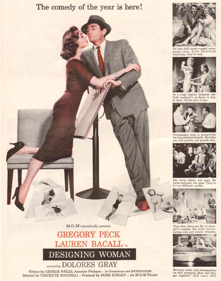 Designing Woman Gregory Peck L Bacall 1957 | Sex Appeal Vintage Ads and Covers 1891-1970