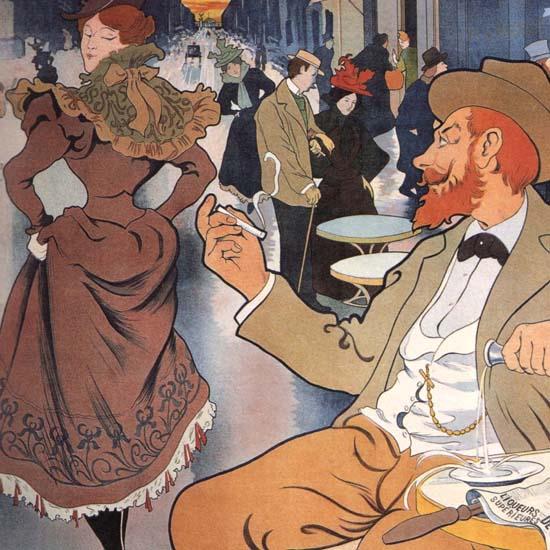 Detail Of Absinthe Berthelot Thiriet Paris GoffArt France | Best of Vintage Ad Art 1891-1970