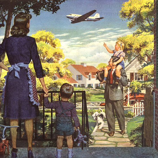 Detail Of Air Transport Association Washington DC For All | Best of Vintage Ad Art 1891-1970