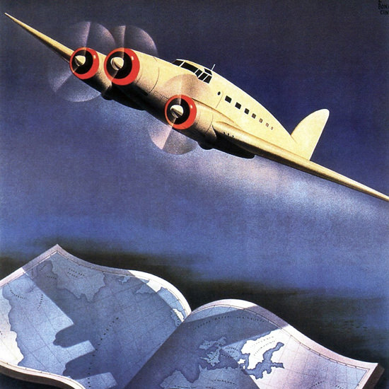 Detail Of Ala Littoria 1939 | Best of 1930s Ad and Cover Art