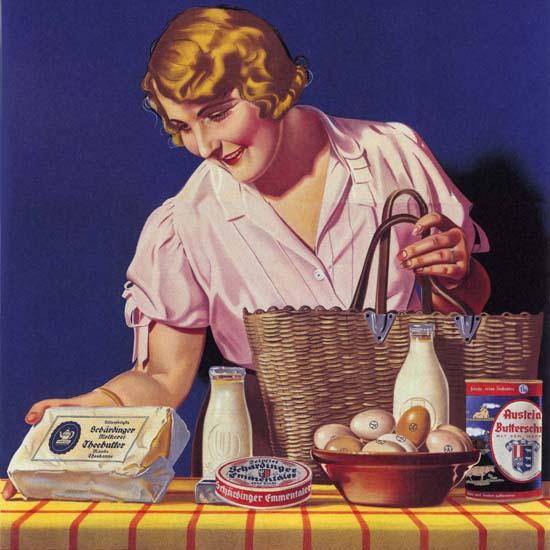 Detail Of Alles Von Der Schaerdinger Austria Grocery | Best of Vintage Ad Art 1891-1970