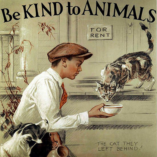 Detail Of American Society Prevention Cruelty To Animals | Best of Vintage Ad Art 1891-1970