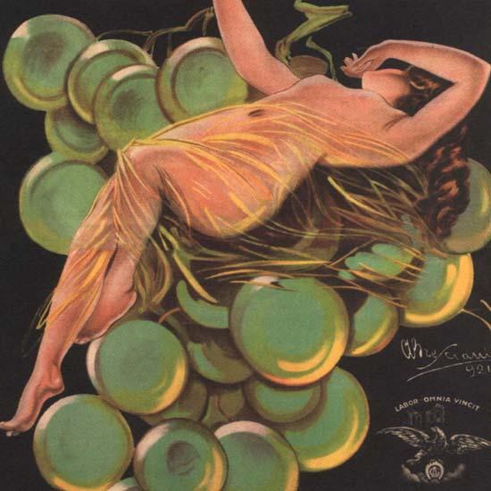 Detail Of Andreoli Vermouth Bianco Verona Italy Italia | Best of Vintage Ad Art 1891-1970