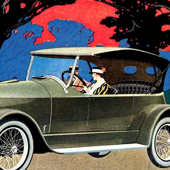 Detail Of Apperson 8 Cylinder Tourster Kokomo 1919 | Best of Vintage Ad Art 1891-1970