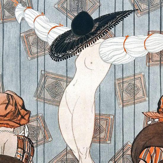 Detail Of Armand Vallee La Vie Parisienne 1919 Grand Couturier page | Best of Vintage Ad Art 1891-1970