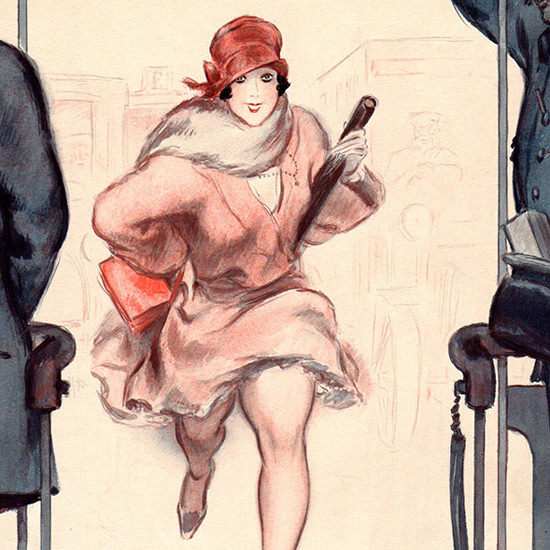 Detail Of Armand Vallee La Vie Parisienne 1924 Le Sprint page | Best of 1920s Ad and Cover Art