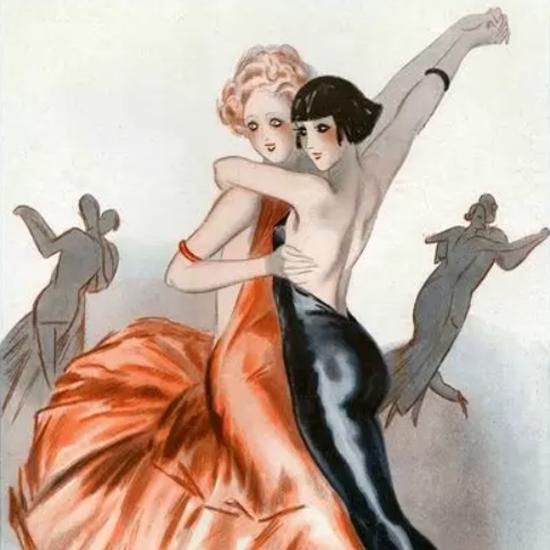 Detail Of Armand Vallee La Vie Parisienne 1931 Les Jeunes Filles Page | Best of Vintage Ad Art 1891-1970