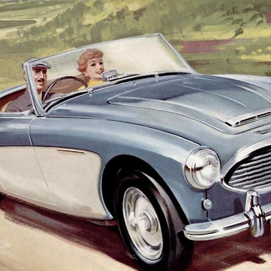 Detail Of Austin Healey 100 Six 1958 | Best of Vintage Ad Art 1891-1970