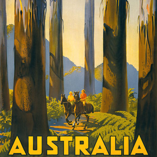 Detail Of Australia Tallest Trees British Empire Victoria 1939 | Best of Vintage Ad Art 1891-1970