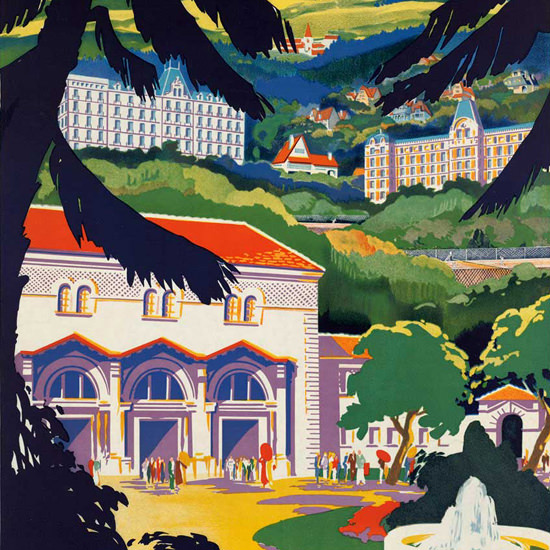 Detail Of Auvergne Chatel-Guyon 1930s | Best of Vintage Ad Art 1891-1970