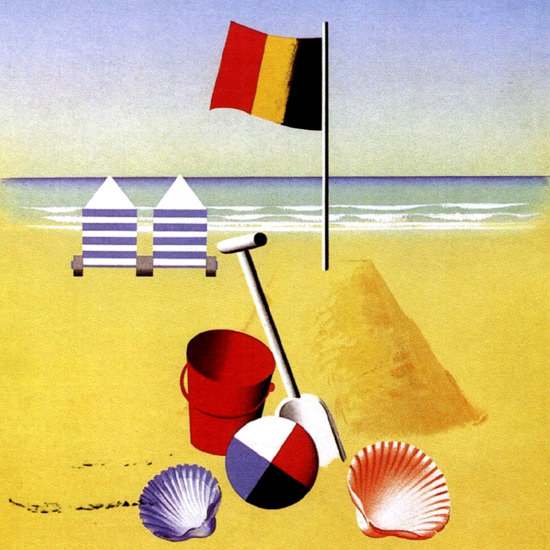 Detail Of Belgie De Kust 1938 Belgium by Leo Marfurt | Best of 1930s Ad and Cover Art