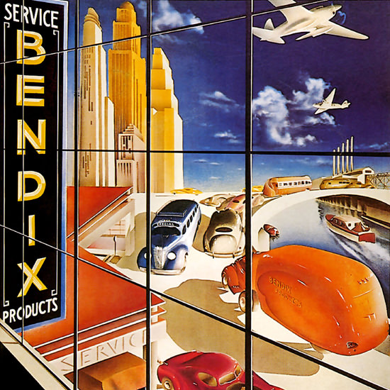Detail Of Bendix Service Products 1937 by Arthur Ch Radebaugh | Best of Vintage Ad Art 1891-1970