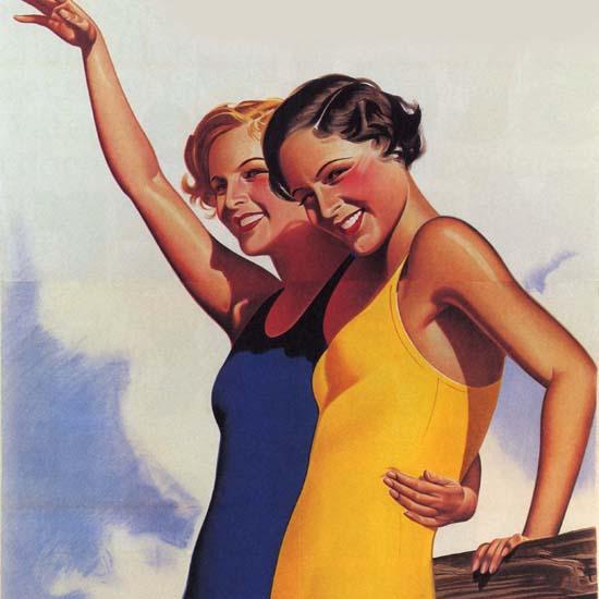 Detail Of Bengers Ribana Badeanzuege Austria Swim Suits | Best of Vintage Ad Art 1891-1970