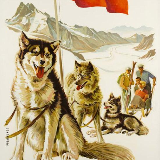 Detail Of Berner Oberland Schweiz Jungfraujoch 1936 | Best of Vintage Ad Art 1891-1970
