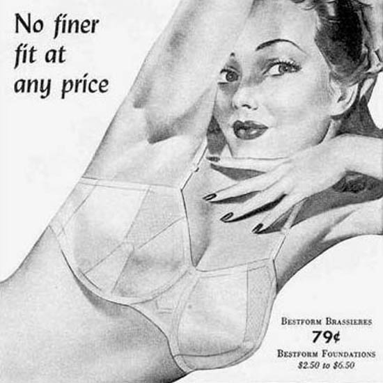 Detail Of Bestform Girdless And Brassieres No Finer Fit 1944 | Best of Vintage Ad Art 1891-1970