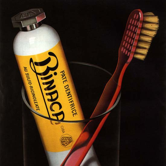Detail Of Binaca Pate Dentifrice Switzerland Schweiz Suisse | Best of Vintage Ad Art 1891-1970