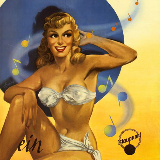 Detail Of Blaupunkt Radio Mein Traum Pin-Up 1955 | Best of Vintage Ad Art 1891-1970