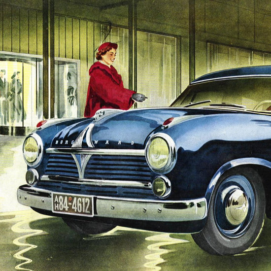 Detail Of Borgward Hansa 2400 Model 1952 | Best of Vintage Ad Art 1891-1970