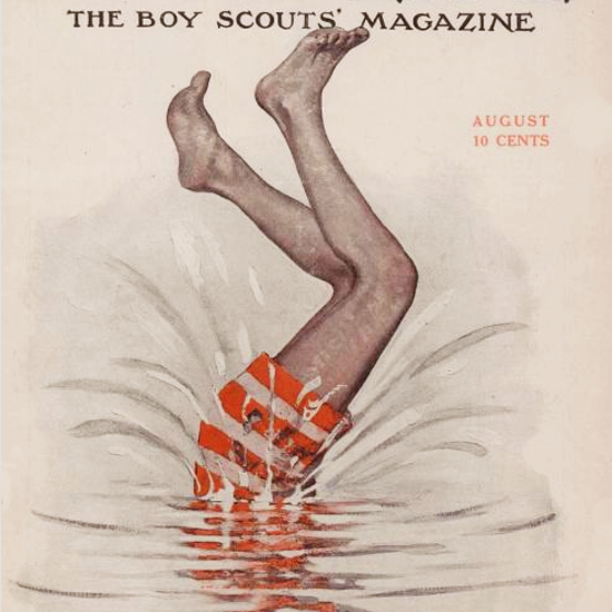 Detail Of Boys Life August 1915 Norman Rockwell | Best of Vintage Ad Art 1891-1970