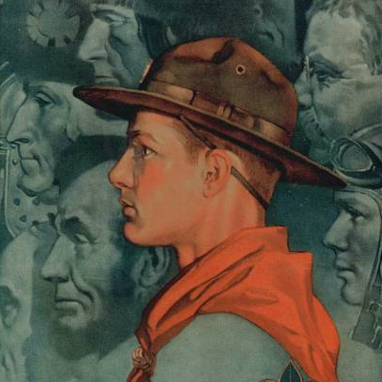 Detail Of Boys Life February 1929 Norman Rockwell | Best of 1920s Ad and Cover Art