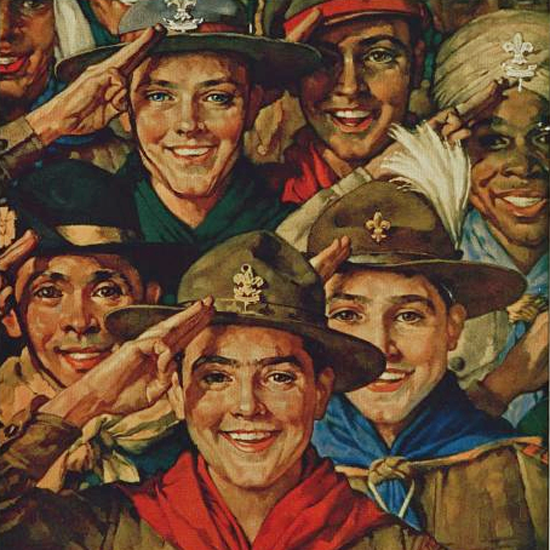 Detail Of Boys Life February 1933 Norman Rockwell | Best of Vintage Ad Art 1891-1970