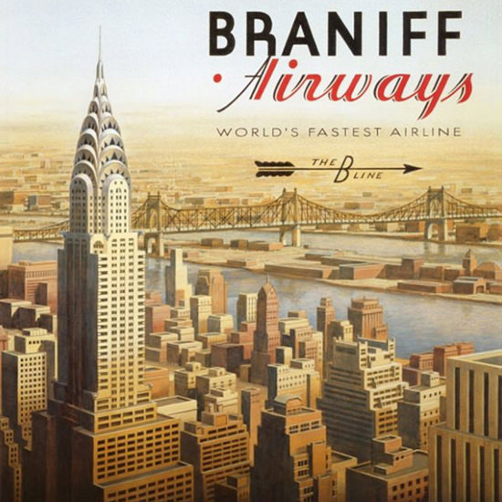 Detail Of Braniff Airways Worlds Fastest Airline Gulf 1930s | Best of 1930s Ad and Cover Art