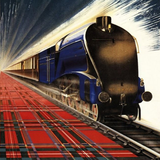 Detail Of British Railways Queen Of Scots Pullman 1940s | Best of 1940s Ad and Cover Art
