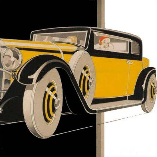 Detail Of Bugatti 1930 | Best of 1930s Ad and Cover Art