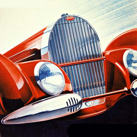 Detail Of Bugatti Modeles 1939 | Best of Vintage Ad Art 1891-1970