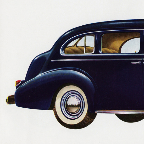 Detail Of Buick Limited 141 HP Model 90 Touring 1939 | Best of Vintage Ad Art 1891-1970