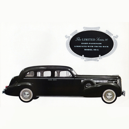 Detail Of Buick Limited Series 90 Limousine 90L 1938 | Best of Vintage Ad Art 1891-1970