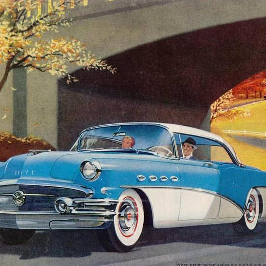 Detail Of Buick New Boulevard Ride 1956 | Best of Vintage Ad Art 1891-1970