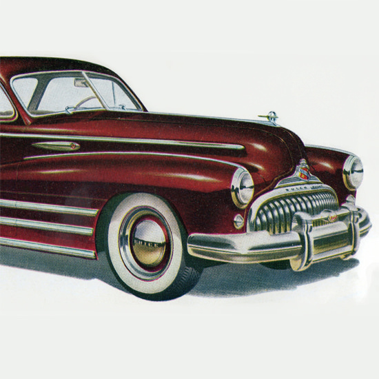 Detail Of Buick Special Sedanet Model 46 S 1948 B | Best of 1940s Ad and Cover Art