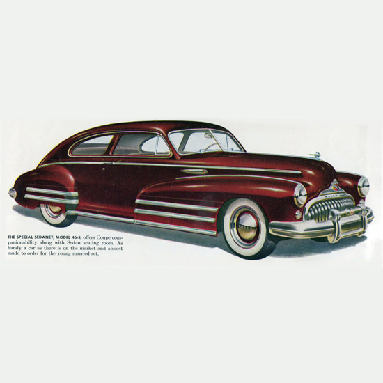 Detail Of Buick Special Sedanet Model 46 S 1948 | Best of Vintage Ad Art 1891-1970