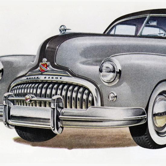 Detail Of Buick Super Sedan Model 51 1948 | Best of Vintage Ad Art 1891-1970