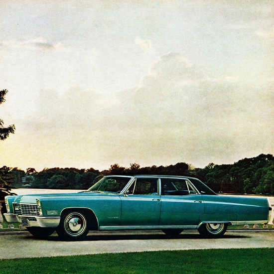 Detail Of Cadillac Fleetwood Brougham 1967 Loyal | Best of Vintage Ad Art 1891-1970