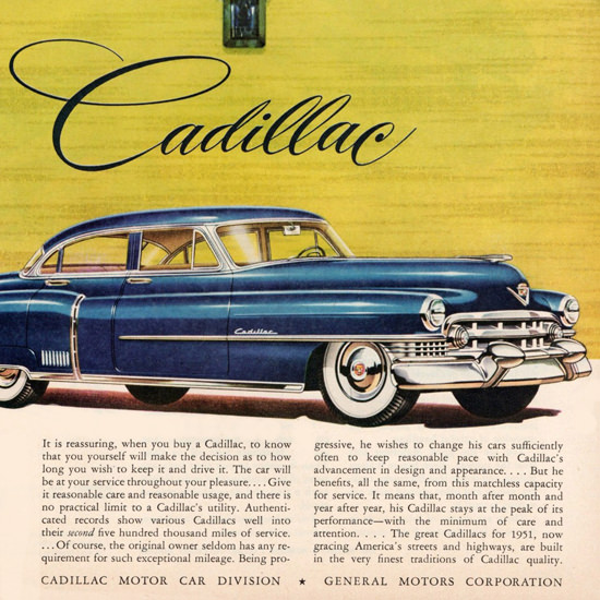 Detail Of Cadillac Fleetwood Sixty Special 1951 Lifetime | Best of Vintage Ad Art 1891-1970