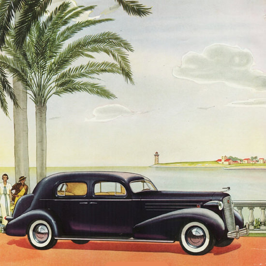 Detail Of Cadillac Fleetwood Town Sedan 1936 | Best of 1930s Ad and Cover Art