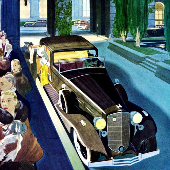 Detail Of Cadillac Fleetwood V16 Town Cabriolet 1933 | Best of 1930s Ad and Cover Art