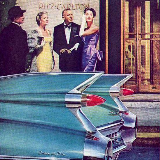 Detail Of Cadillac Ritz Carlton Eloquent Possession 1959 | Best of Vintage Ad Art 1891-1970