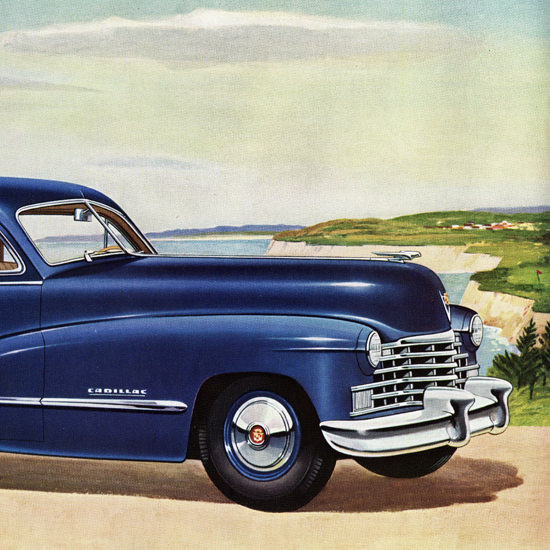 Detail Of Cadillac Series Sixty Two Club Coupe 1946 | Best of Vintage Ad Art 1891-1970