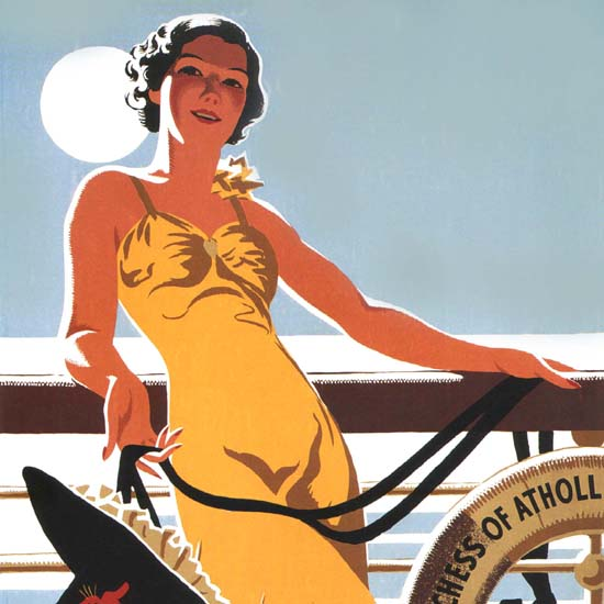 Detail Of Canadian Pacific Cruises Duchess Cruises 1938 | Best of Vintage Ad Art 1891-1970