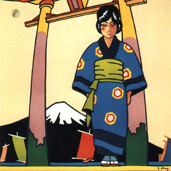 Detail Of Canadian Pacific Cruises Japan 1929 E Erny | Best of Vintage Ad Art 1891-1970