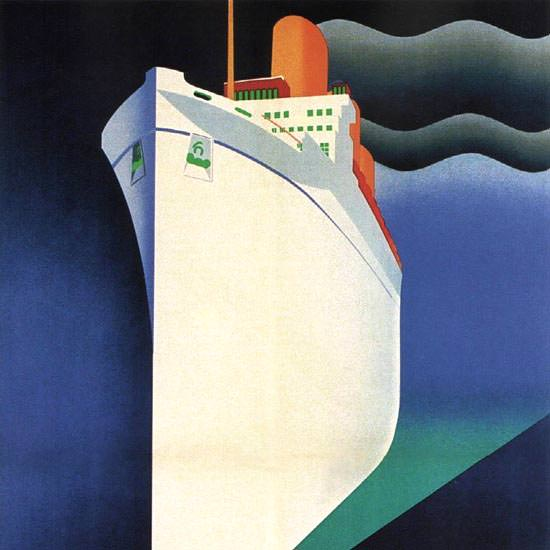 Detail Of Canadian Pacific Empress Of Britain 1930 | Best of Vintage Ad Art 1891-1970