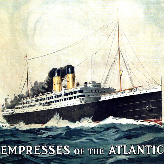 Detail Of Canadian Pacific Empresses Atlantic Canada 1910 | Best of Vintage Ad Art 1891-1970