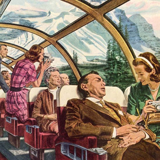 Detail Of Canadian Pacific High-Up Scenic Domes 1960 | Best of Vintage Ad Art 1891-1970